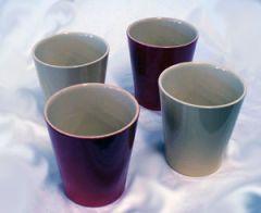 Vaso in ceramica per piante da appatramento con sfumatura di colore