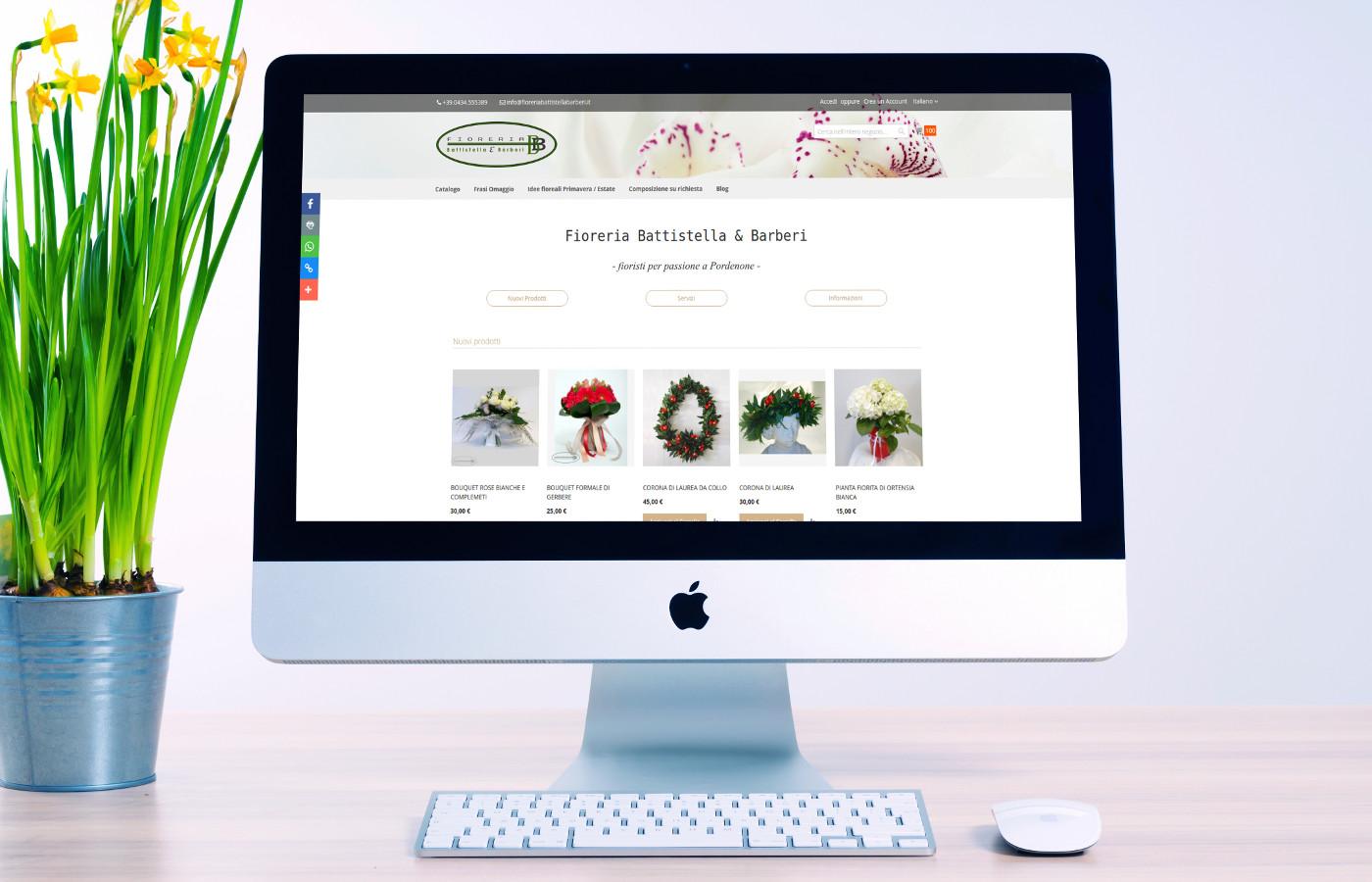 Fioreria Battistella & Barberi - Arriva il nuovo sito web